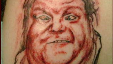 Chris Farley Bad Tattoos America's Worst Tattoos Regrettable Horrible Awkward Stupid People Regrets Misspelled Nasty Tats WTF Funny