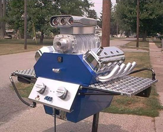 Engine Bar b Que Grill ~ 28 Cool Things Only a Guy Would Understand