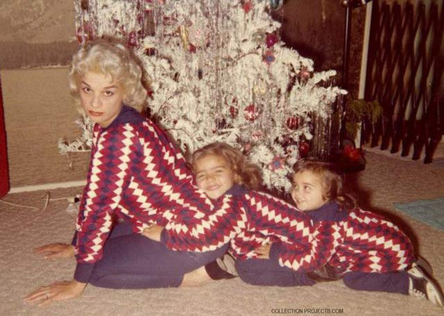 26 Funny Christmas Photos for the Whole Family ~ vintage snap matching sweaters