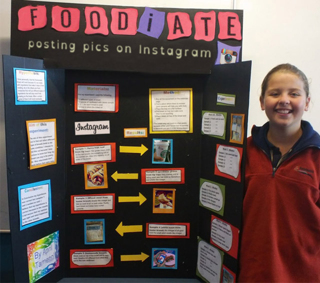 27 Funny Science Fairs with Projects that Rock! ~ Food I ate posting pics on instagram 8th grade
