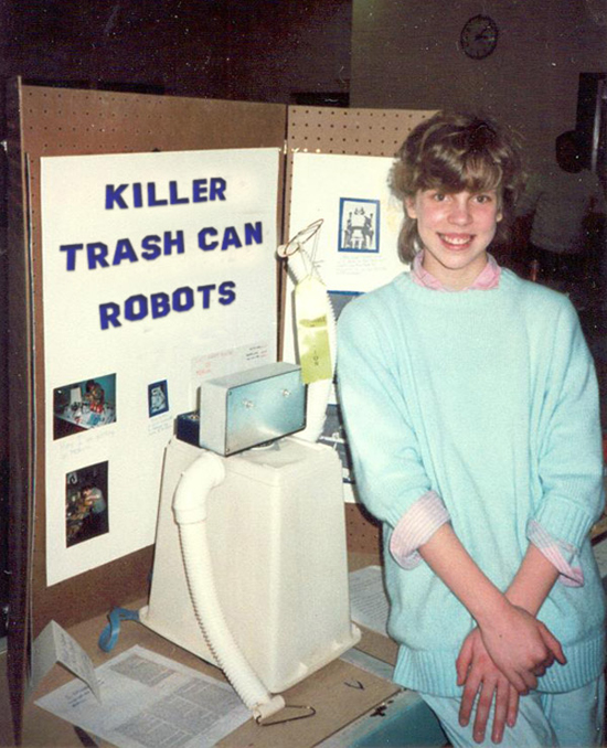27 Funny Science Fairs with Projects that Rock! ~ : Killer trash can robots high school