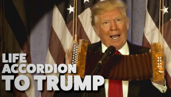 Life Accordion Trump – Donald Trump playing the accordion