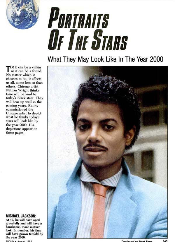 33 Funny Pics of Random Offbeat Weirdness ~ Ebony mag, what Micheal Jackson will look like in year 2000