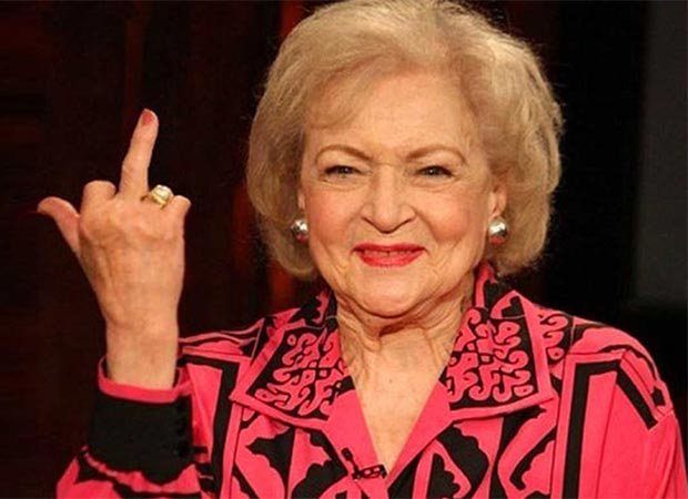 Betty White flipping the bird ~ funny pics
