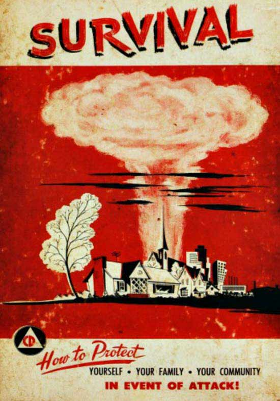 Vintage Survival Guide ~ How to protected you and your family in the event of a nuclear attack