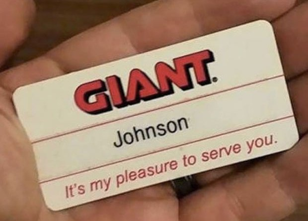 Best Name Tage Fail Ever! ... Giant Johnson ~ 35 Funny Pics & Memes