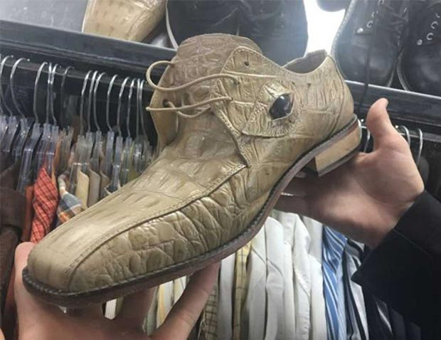 Cool and creep alligator shoes with eyeball ~ 35 Funny Pics & Memes