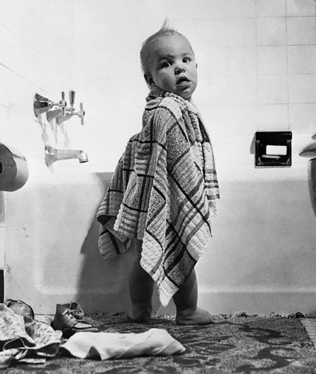 In 1957, 1 bath towel, 1 buck