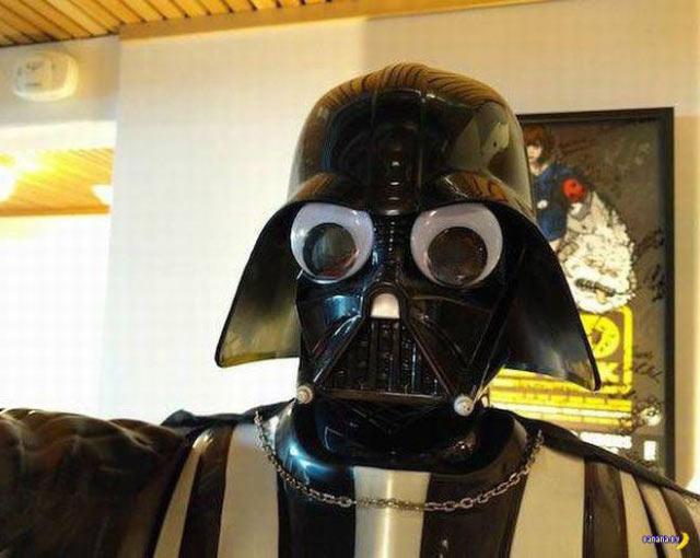 Hilarious goggles-eyed Darth Vader ~ 35 Funny Pics & Memes