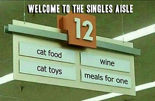 Sadly, I'm there ~ grocery story singles isle ~ 33 funny pics and memes