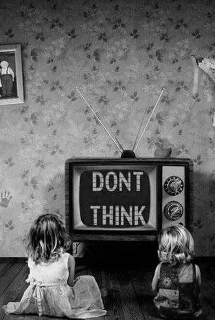 Don't Think! Kids watching TC vintage ~ 35 Funny Pics & Memes