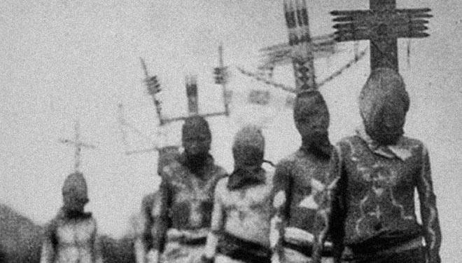 western indian ritual ~ old creepy photos