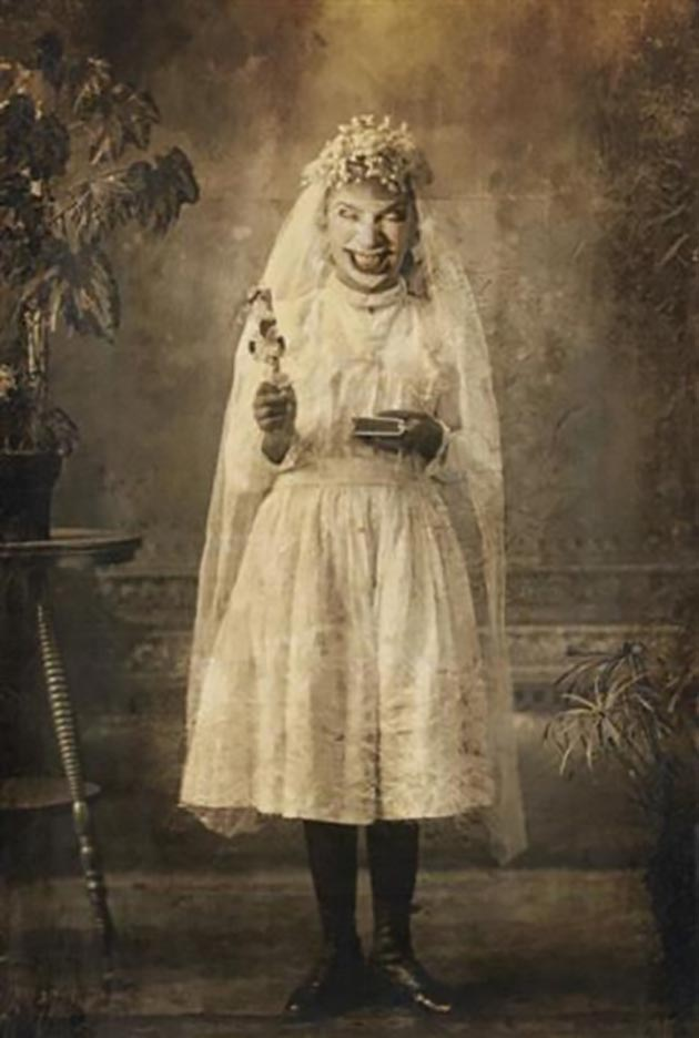 possessed on confirmation day ~ old creepy photos