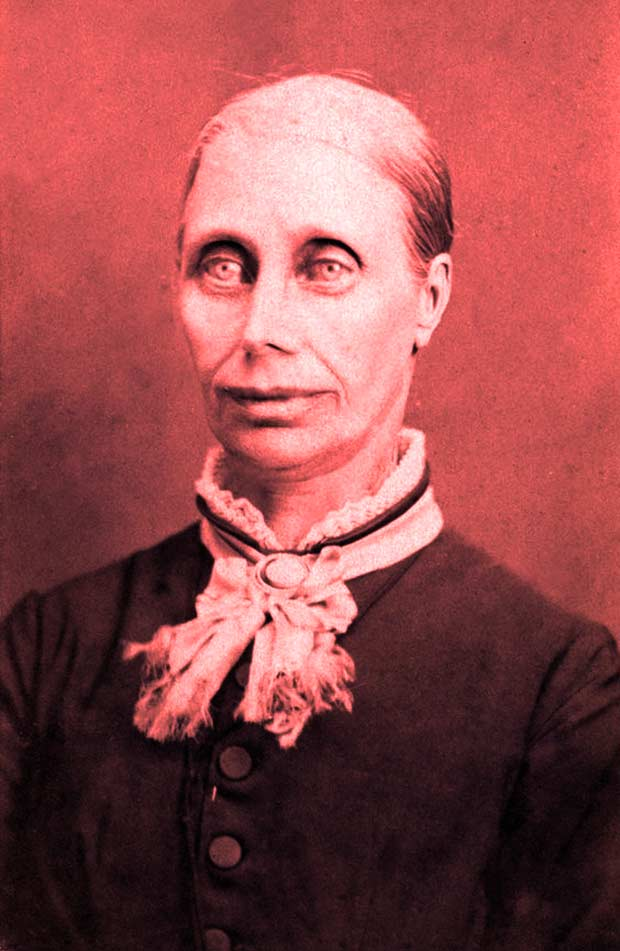 vintage portrait of scary woman ~ old creepy photos