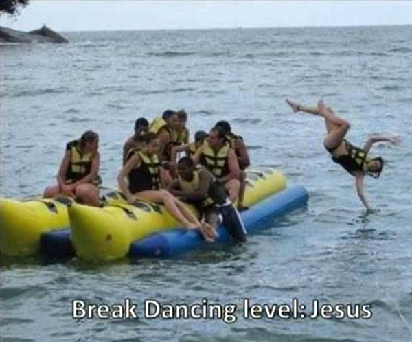 Bring on the fish and wine! ... ~~ 37 funny pics & memes... break dancing jesus level