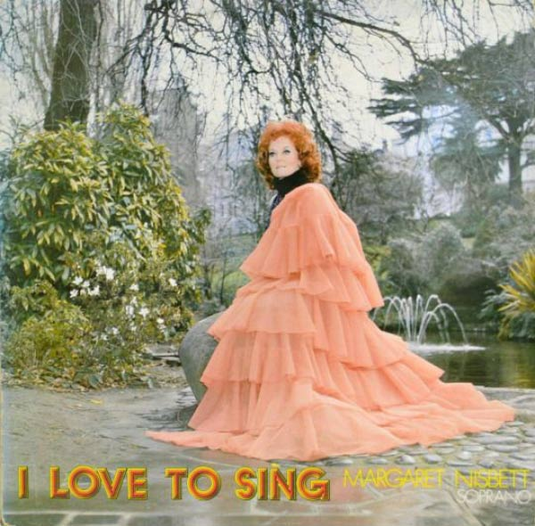 Margaret will serenade us more right after she finishes her pee ~~ The Worst Bad Album Cover Art ~~margaret nisbett soprano love to sing