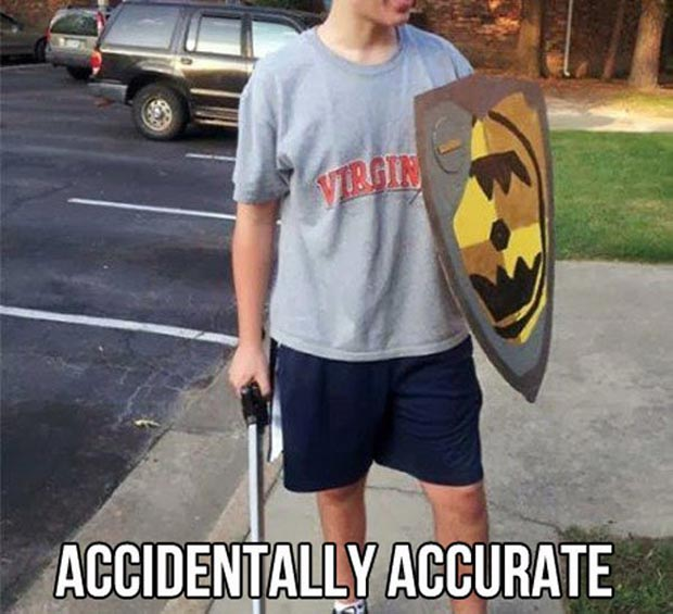 At least he's outta mom's basement ~~ funny pics & memes accurate cosplay virgin