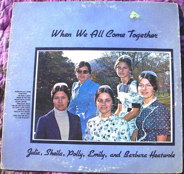 Oh, God! Oh, God! It's like a nuclear explosion! But that's what you get when you have 5 wives. ~~ The Worst Bad Album Cover Art ~~ when we all come together heatwole