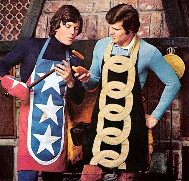 Awesome 1970s mens fashions ~ aprons and Hot dogs ~~.~~ ~Funny Pics Memes fails