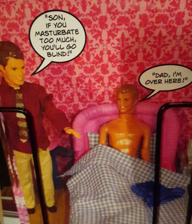 This ain't quite like how my sister played with her Ken dolls.