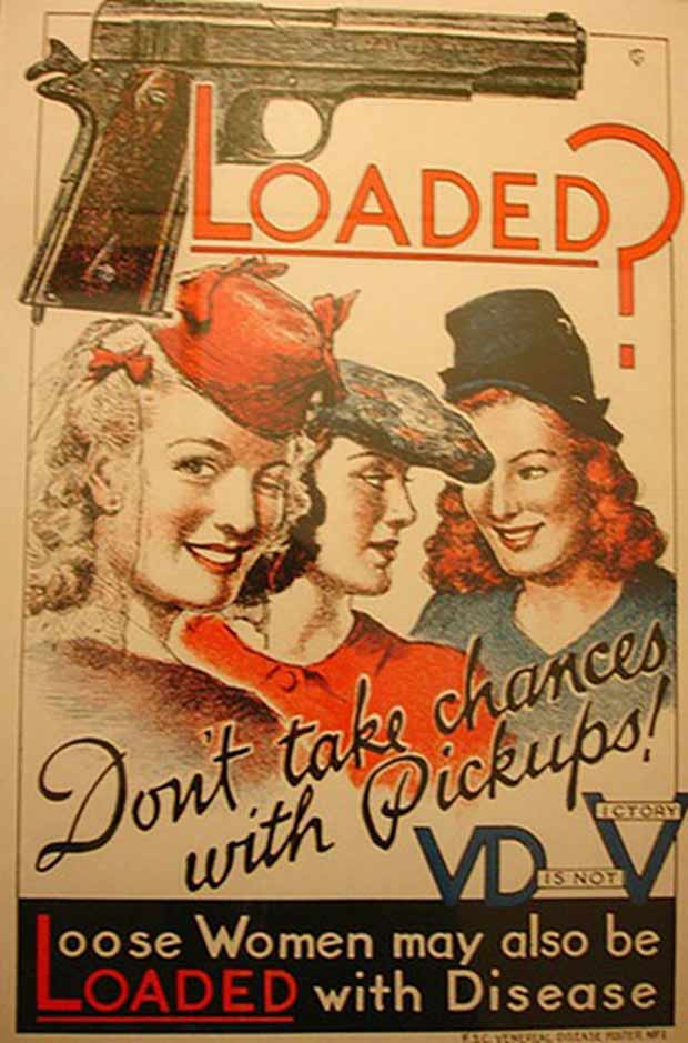 But don't forget who they caught them from!! VD poster WWII