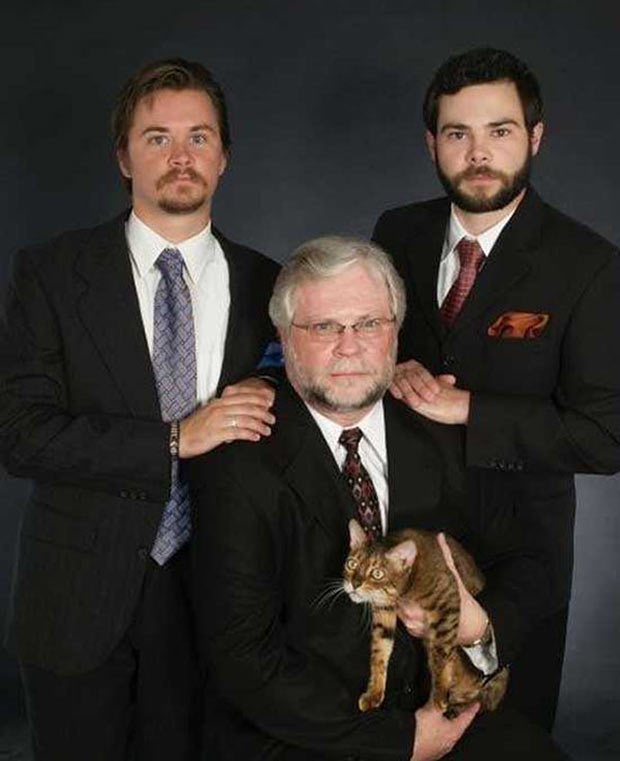 The Board of Directors of Miller Family Realty – William, Bill, jr., Donald, and Mittens.