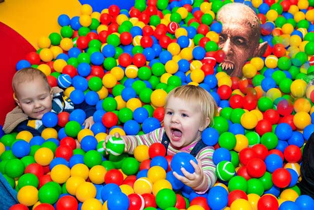And you thought ball pits were just germy... funny pics