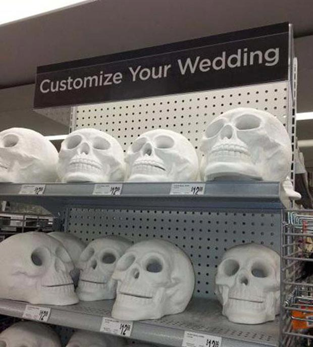 For the happiest day of your life... one job fails