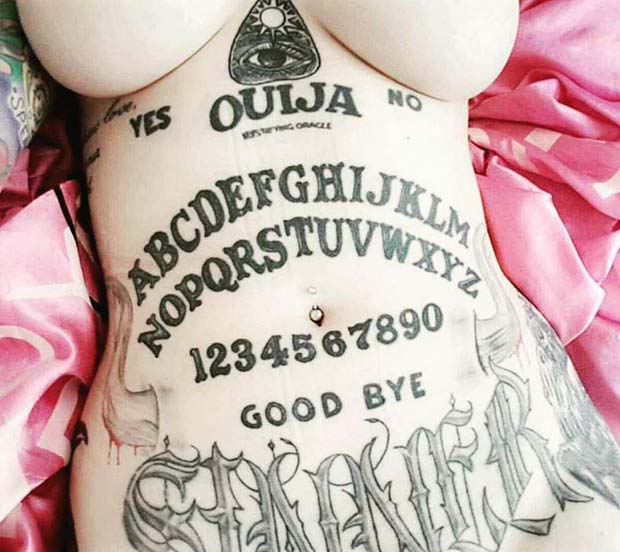 Put your hands on this awesome Ouija board tattoo! ~ Funny pics & memes