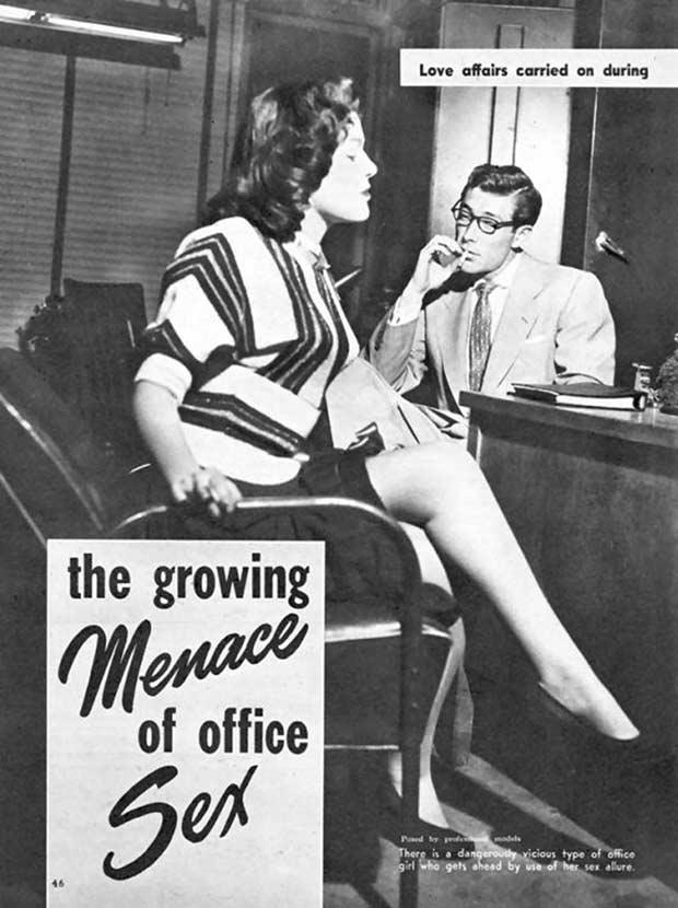 Vintage Pulp Magazine Growing Menace of Office Sex