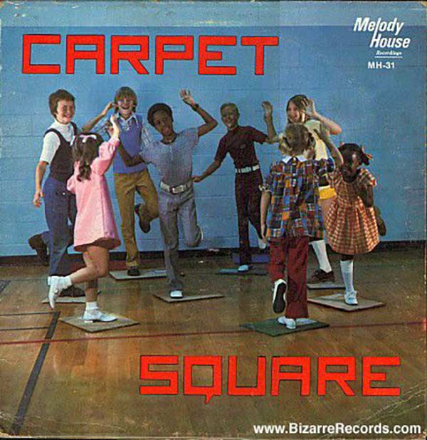 Wee! Carpet! Entertainment for Underprivileged Children ~~ Funny Bad Album Covers Carpet Square