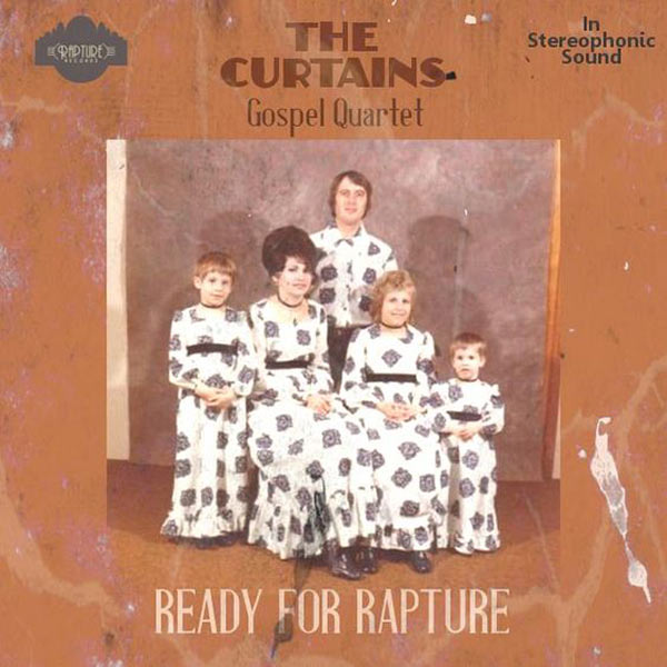 My Grandma had those curtains, and she could count well enough to know that 5 isn't a quartet ... Curtains Gospel Ready for Rapture ~ Funny Bad Album Covers