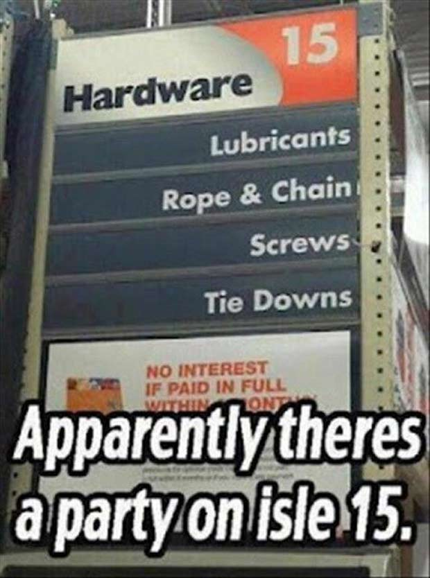 Partizzle at Home Depot! ... ... funny signs