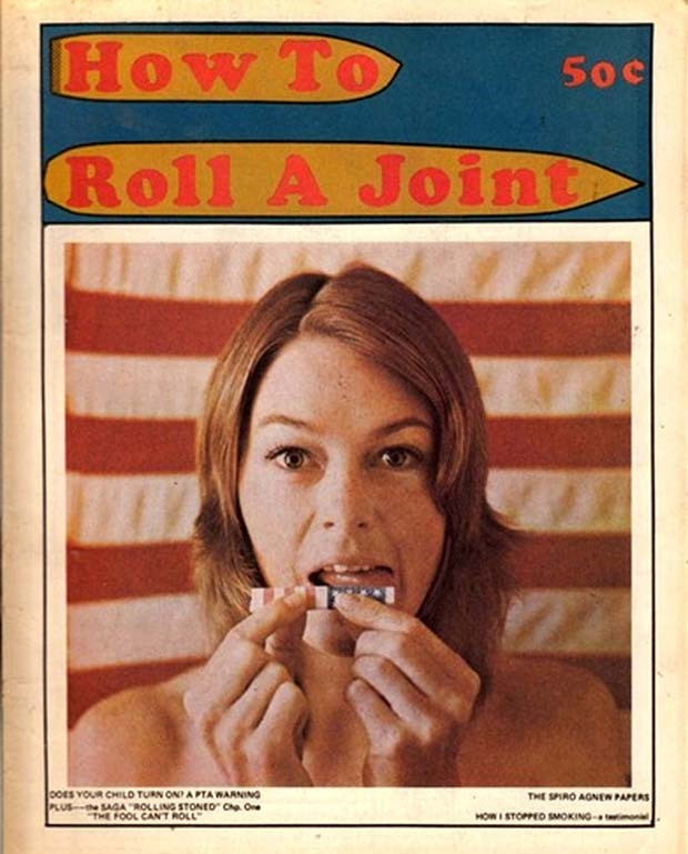 How to Roll a Joint. Vintage Magazine Cover 1970s. Vintage ads.