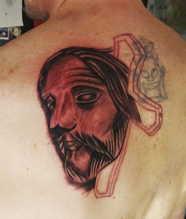 What would it look like if you carved a wooden mask of Jesus?...