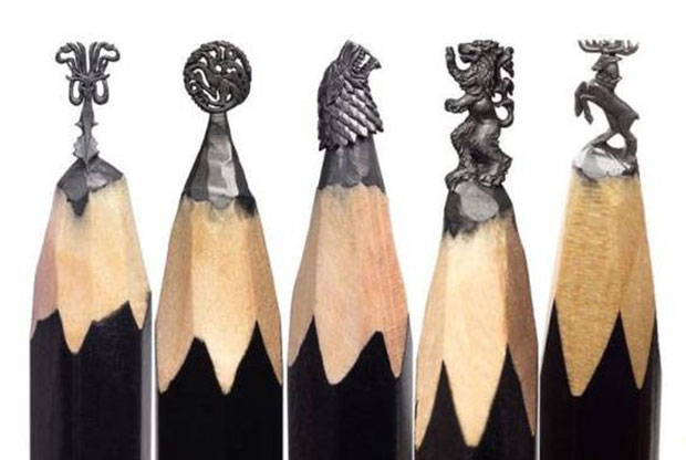 Cool pencil lead carvings