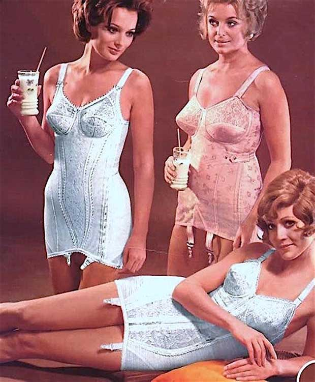 Vintage 1970s catalogue ad for girdles