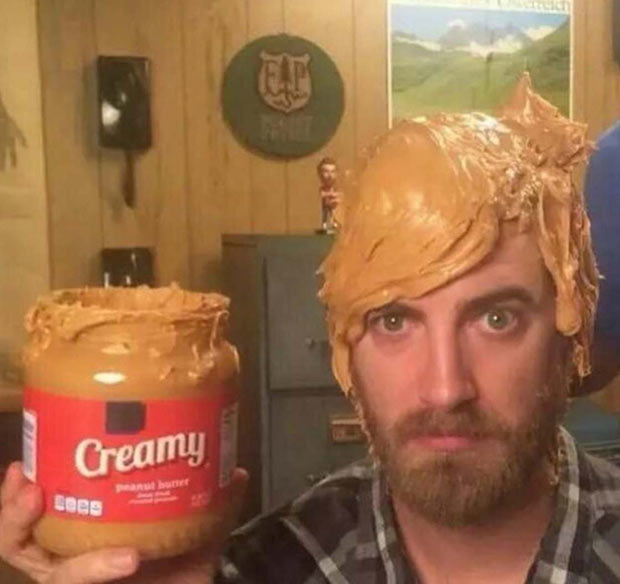 Creamy Peanut Butter Hair ~ Funny Pics & Memes