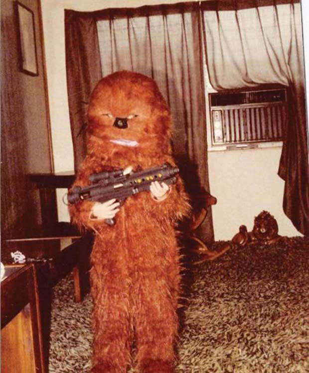 Kid in vintage homemade Chewbacca Costumes, 1970s ~ Best Halloween Costumes