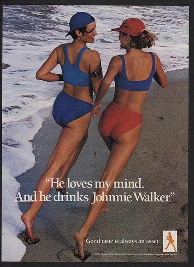 Sexist vintage ads Johnnie Walker loves my mind