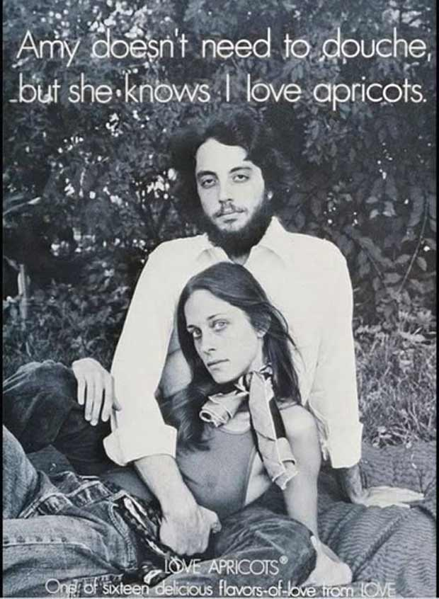 Vintage 1970s Love Apricots flavored douches