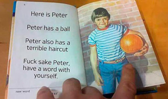 Funny inappropriate children book ~ This is Peter...