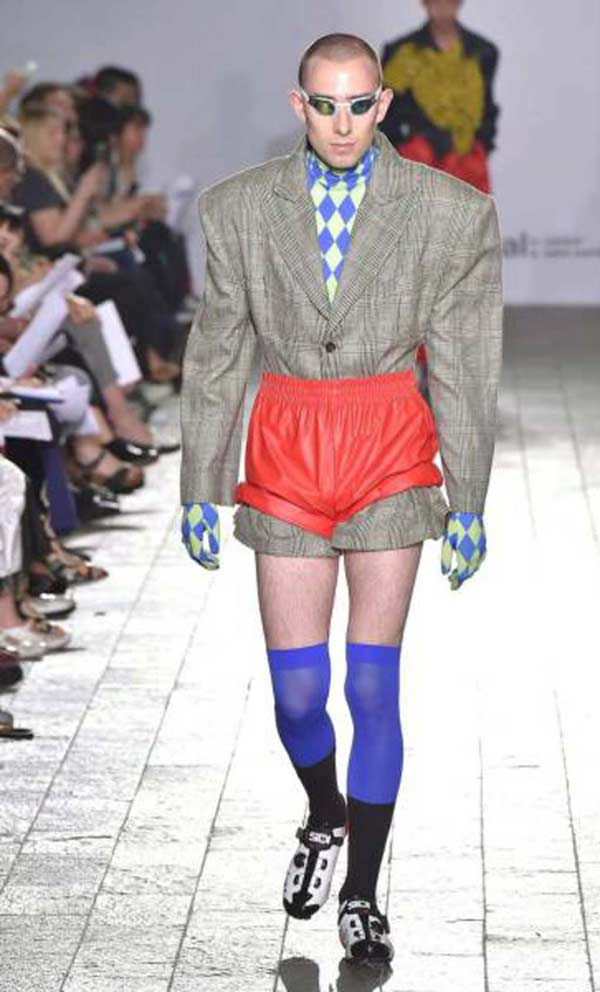 Weird men's fashion fail - runway model