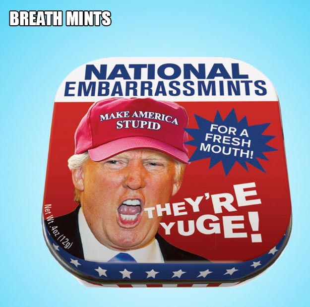 National Embarrassments Breath Mints ~ 18 Best Christmas Gifts for Trump Lovers and Haters