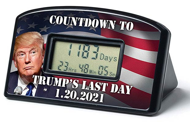 Countdown to Trump's Last Day Clock Timer ~ 18 Best Christmas Gifts for Trump Lovers and Haters
