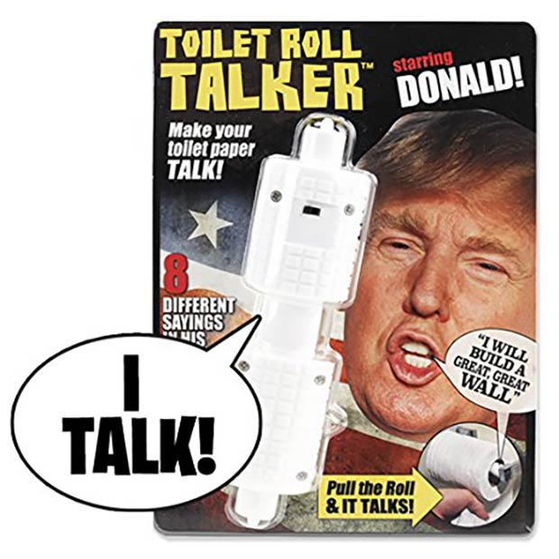 Toilet Paper Roll Talker ~18  Best Christmas Gifts for Trump Lovers and Haters