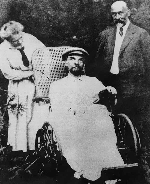The last known photo of Vladimir Lenin's. At the time of this photo in 1923, he had suffered three strokes and was completely mute.