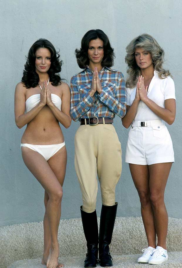 Original Charlies Angels photo ~ Kate Jackson Farrah Fawcett-Majors Jaclyn Smith