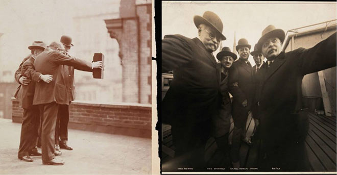 If kids today think they invented selfies, tell' em to think again. Here's one from the 1920s.