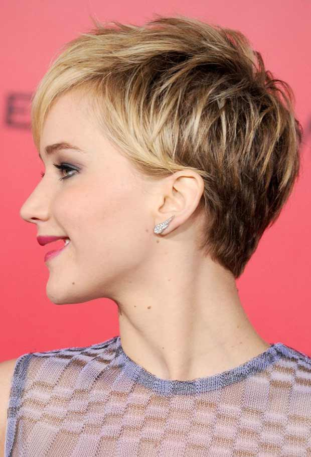 Jennifer Lawerence Without Teeth ~ Pixie Haircut